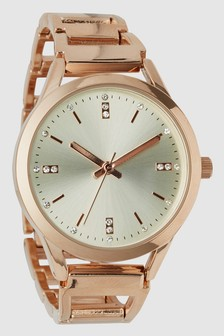 Open-Link Boyfriend Bracelet Watch