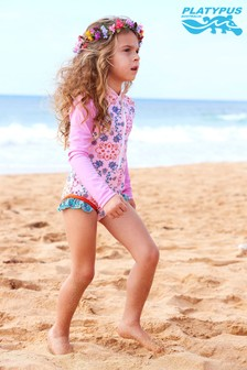 Platypus Australia UV Protection Secret Garden Long Sleeved Swimsuit