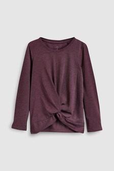 Long Sleeve Twist Front T-Shirt (3-16yrs)