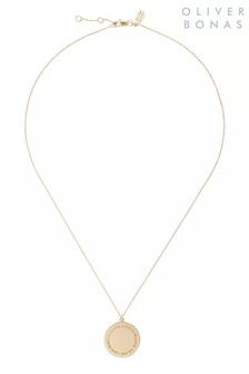 Oliver Bonas I Love To Be Loved Gold Plated Brass Necklace