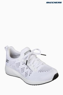 Skechers® White Bobs Squad Ring Master Open Weave Engineer