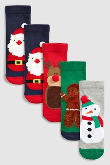 3D Christmas Socks Five Pack (Younger)