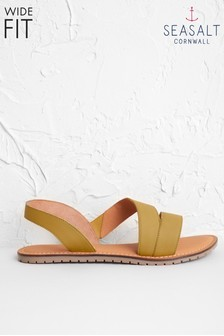 Seasalt Yellow Sun Terrace Sandal Wide Fit