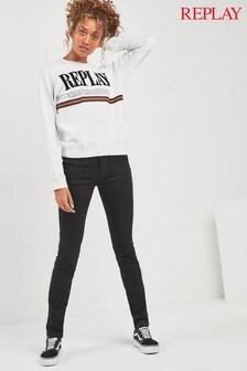 Replay® Luz Black Low Rise Skinny Jean