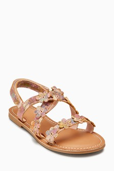 Leather Flower Sandals (Older)