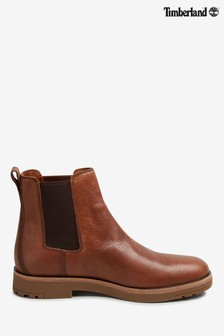 Timberland® Brown Leather Chelsea Boots