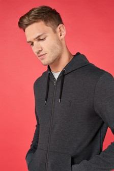 Logo Zip Through Hoody