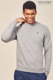 Ralph Lauren Polo Golf Grey Marl Crew Neck Sweater