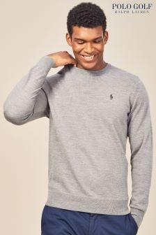 Ralph Lauren Polo Golf Grey Marl Crew Neck Sweater