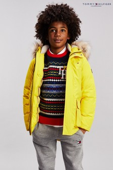 Tommy Hilfiger Yellow Padded Parka