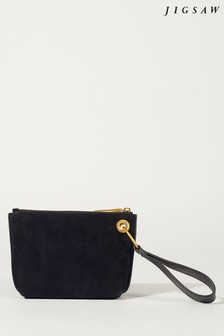 Jigsaw Blue Kendall Circle Wristlet Clutch
