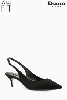 Dune Wide Fit Black Casandra Slingback