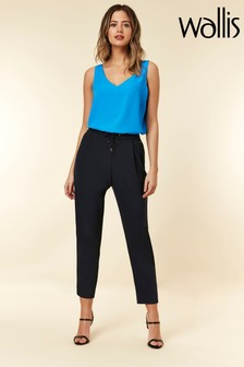 Wallis Blue Petite Pull-On Trouser