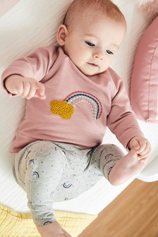 Rainbow Sweat Top And Leggings Set (0mths-2yrs)