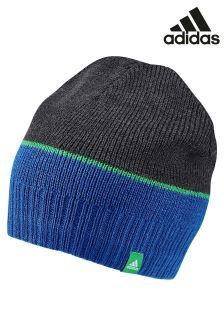 כובע גרב עם פסים של adidas בכחול