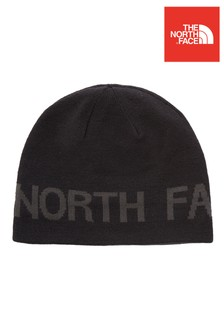 The North Face® Black Reversible Banner Beanie