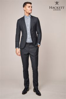 Hackett Grey Sharkskin Texture Trouser