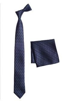 Галстук с геометрическим рисунком и нагрудный платок