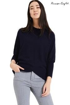 Phase Eight Blue Ottelie Exposed Seam Knit
