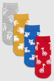 Animal Terry Thermal Socks Four Pack (Younger)