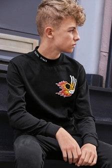 Ok Flames Print T-Shirt (3-16yrs)