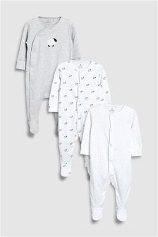 Delicate Sheep Sleepsuits Three Pack (0-12mths)