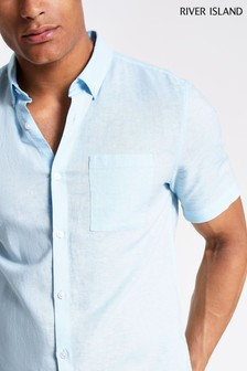 River Island Short Sleeve Linen Shirt