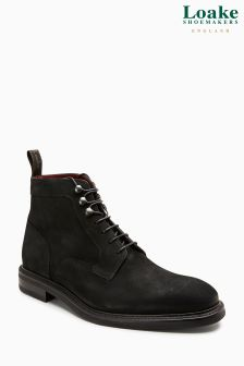 Loake Black Crow Nubuck Boot
