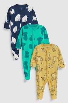 Trei pijamale cu caractere animale (0 luni - 2 ani)