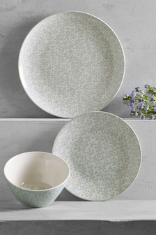 12 Piece Hadley Floral Dinner Set