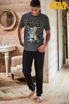 Pijama din jerseu cu pantaloni lungi cu manșete Star Wars™