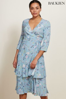 Baukjen Blue Kaia Wrap Dress