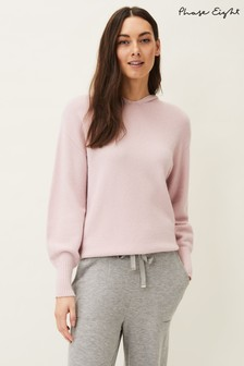 Phase Eight Pink Elsa Knitted Hoodie
