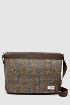 Messenger Bag Using Harris Tweed Fabric
