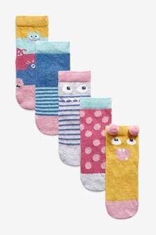 5 Pack Monster Character Socks