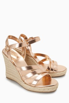 High Asymmetric Espadrille Wedges