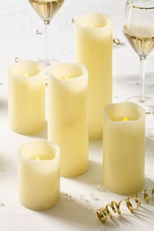 Set of 5 Real Wax Candles