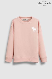 Abercrombie & Fitch Pink Moose Crew