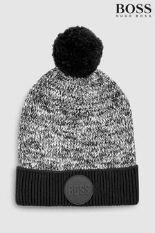 BOSS Black Logo Pom Pom Hat
