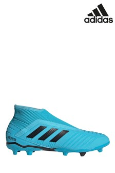 adidas Blue Hardwired Predator Laceless Firm Ground Football Boots