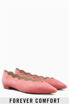 Forever Comfort Scallop Point Ballerinas