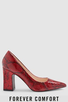 Pointed Block Heel Courts