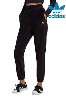 adidas Originals Black Relaxed Risque Velour Joggers