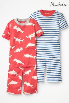 Boden Red Short John Pyjama Twin Pack