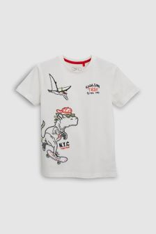 Embroidered Dino T-Shirt (3-16yrs)