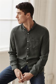 Long Sleeve Textured Shirt