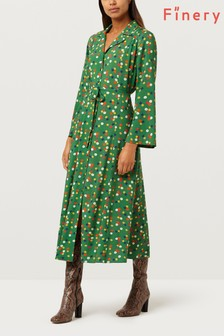 Finery London Daniella Green Floral Dress