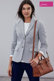 Joules Grey Juliane Jersey Blazer