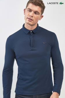 Lacoste® Paris Langärmeliges Poloshirt, marineblau