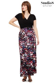 Studio 8 Black Felicity Printed Maxi Dress